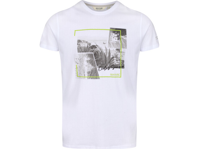 Regatta Cline IV Camiseta Hombre, blanco/gris